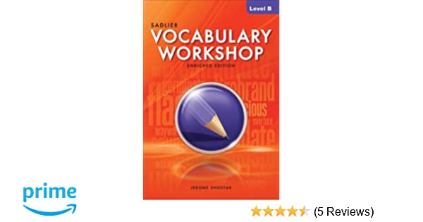 Vocabulary workshop 2013 enriched edition student edition level b vocabulary workshop 2013 enriched edition student edition level b grade 7 sadlier school 9780821566275 amazon books fandeluxe Choice Image