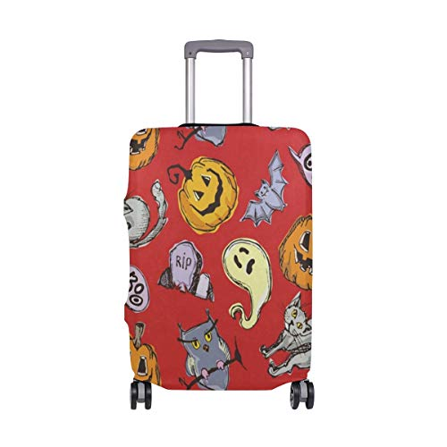 Suitcase Cover Halloween Pumpkin Ghost Luggage Cover Travel Case Bag Protector for Kid Girls