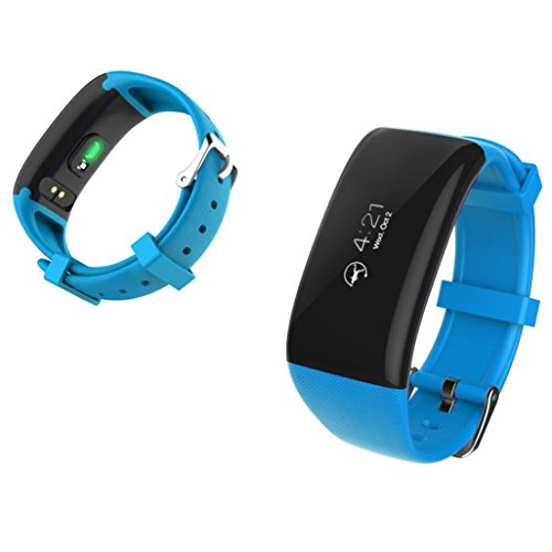 Binmer(TM) X16 Sport Office Smart Watch Bracelet Band Heart Rate Monitor Pedometer Fitness (Blue)