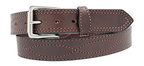Men's Harness Leather Work Belt - 1 1/2
