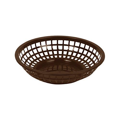 Excellanté 12 Piece 8' Round Basket, Brown (8' Bread Basket)