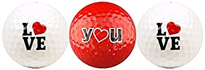 Love You w/ Red Heart Golf Ball Gift Set