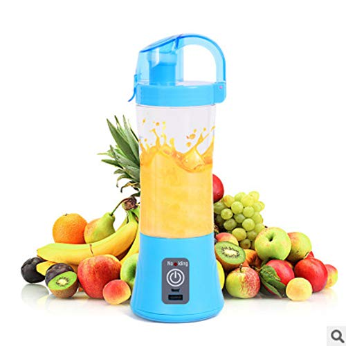 DZSF 380Ml Portable Blender Juicer Cup USB Rechargeable, Electric Automatic Vegetable Fruit Citrus Orange Juice Maker Cup Mixer Bottle,Blue (Best Fruits And Vegetables For Blending)