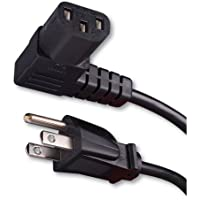 Vanco 339006X Right Angle Flat Panel TV Power Cord (6 Feet)