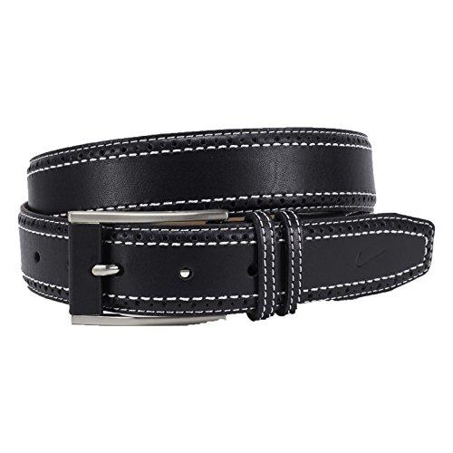 [Nike Men's Perforated Edge Premium Belt, Black, 36] (Nike Black Belt)