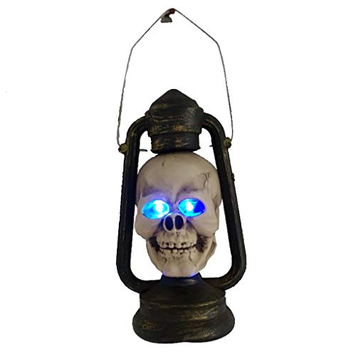 Unionm Halloween Props, DIY Decoration Horror Creepy Spooky Prop Toys Haunted House Decoration Gift for Home Yard Outdoor Indoor Party Bar Home (Skull Lamp)