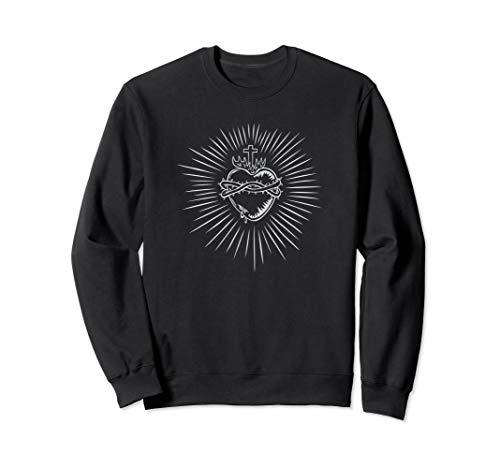 Sacred Heart Of Jesus Devotion Catholic Vintage Sweatshirt