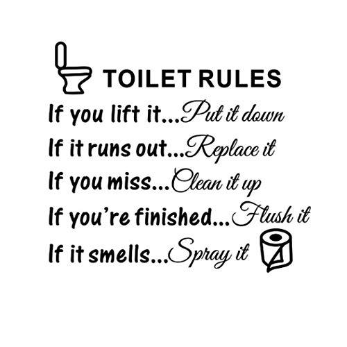 LIKESIDE DIY Toilet Rules Bathroom Toilet Wall Sticker
