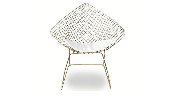 Amazon.com: FENG Fan Openwork Wire Chair Modern Wrought Iron ...