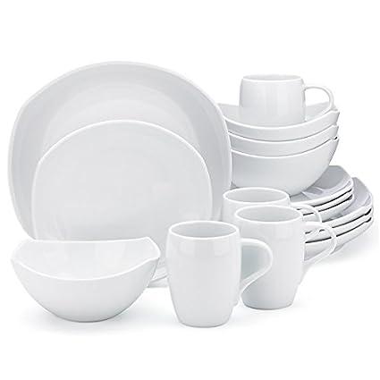 Dansk Classic Fjord Dinnerware Set 16-pc White  sc 1 st  Amazon.com & Amazon.com: Dansk Classic Fjord Dinnerware Set 16-pc White ...