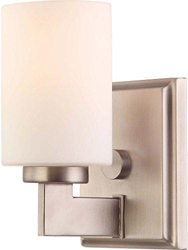 (Quoizel TY8601AN Taylor Bath Wall Sconce Lighting, 1-Light, 100 Watt, Antique Nickel (8