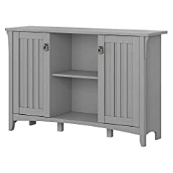 Home Bar Cabinetry Bush Furniture Accent Storage Cabinet with Doors, Cape Cod Gray home bar cabinetry