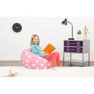 Big Joe Classic Bean Bag Chair, Candy Pink Polka Dot