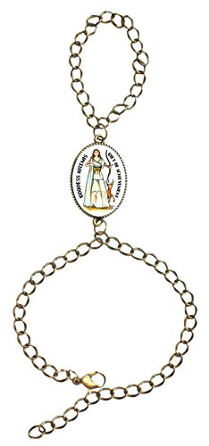 Goddess Artemis of Achievement Bronze Gold Chain Slave Bracelet Adjustable ()