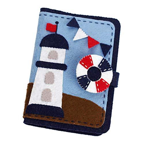 FLAMEER 不織布 カードホルダー フェルト アップリケ キット 灯台 初心者向けの商品画像