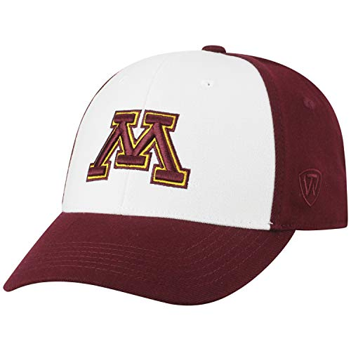 Top of the World NCAA-Premium Collection Two Tone-One-Fit-Memory Fit-Hat Cap- Minnesota Golden - Gophers Golden Wool Minnesota