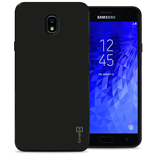 CoverON FlexGuard Series for Samsung Galaxy J7 V 2nd Generation Case, Galaxy J7 2018 / J7 Refine / J7 Star / J7 Aero / J7 Crown Case, Slim Fit Soft Flexible TPU Rubber Phone Cover - Black