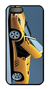 Black Color Excellent Desighed Case Cover For iPhone 5S, Good Quality With Photo Yellow Modern Car For iPhone 5S.