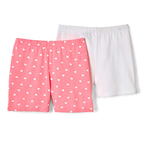 French Toast Girls' Big Stretch Kick Short, Pink Pizzazz Heart XL (14/16)