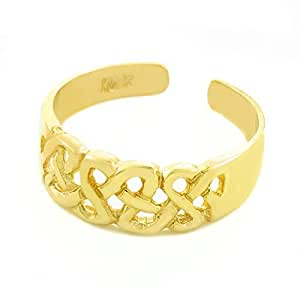 10k Yellow Gold Trinity Knot Toe Ring