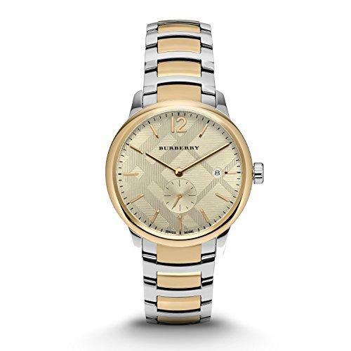 Burberry Men's Swiss The Classic Round Two-Tone Stainless Steel Bracelet Timepiece 40mm BU10011 (Timepiece Steel)