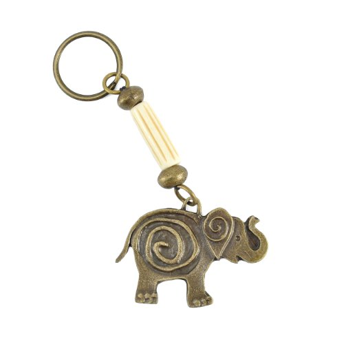 South African Fair Trade Funky Elephant Brass Key Ring