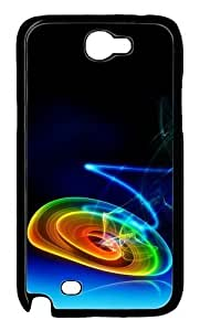 3D Color And Vignetting Polycarbonate Hard Case Cover for Samsung Galaxy Note 2/ Note II/ N7100 Black