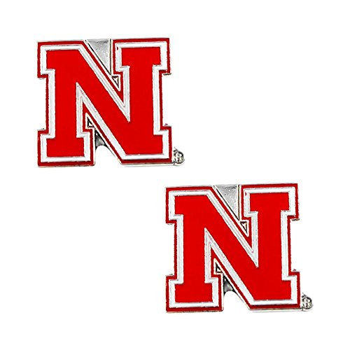 NCAA Nebraska Huskers Cornhuskers Sports Team Logo Women Girls Fashion Wear Post Stud Charm Earring (Nebraska Logo Square)