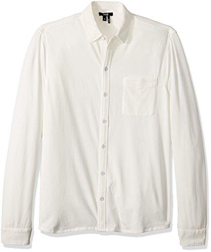 - PAIGE Men's Stockton Tech Jersey Button up, Optic White, M