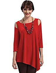 IC Collection Cold Shoulder Tunic In Red