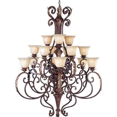 Maxim Lighting Augusta Auburn Florentine 15-Light Chandelier 13567CFAF/CRY081