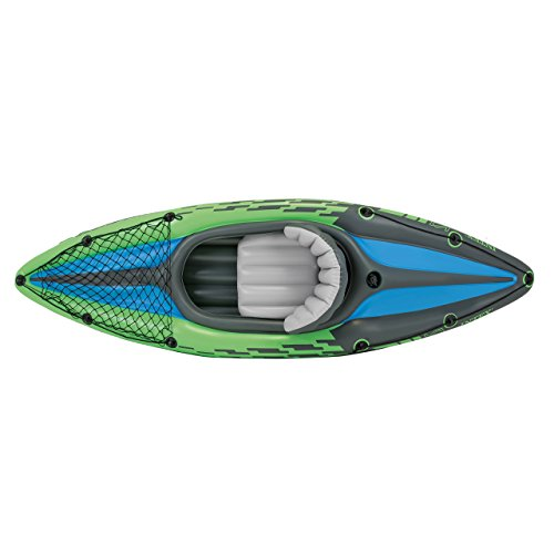 Intex Challenger K1 Kayak, 1-Person Inflatable Kayak Set with Aluminum Oars and High Output Air Pump by Intex (Image #2)