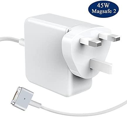 LIVEIMPEX Compatible para MacBook Air Cargador Apple A1466 / A1465 / A1436, Compatible para 45W MagSafe 2 Adaptador de Corriente con Conector Estilo ...