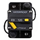 T Tocas 120 Amp Circuit Breaker Trolling with Manual Reset, 12V- 48V DC, Waterproof (120A)