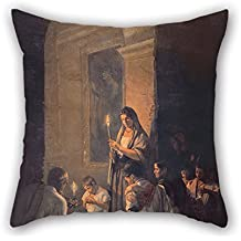 Loveloveu 16 X 16 Inches / 40 By 40 Cm Oil Painting Josà María Jara - The Wake Christmas Pillow Shams Twin Sides Is Fit For Seat Study Room Club Kids Boys Deck Chair Son