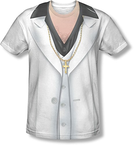 Saturday Night Fever White Suit (Saturday Night Fever - Mens Leisure Suit T-Shirt, Large,)