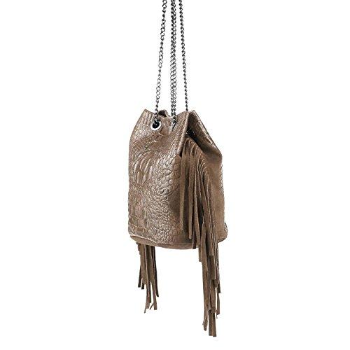 OBC Only-Beautiful-Couture - Cartera de mano para mujer Marrón Dunkelbraun/Moro 26x22x15 cm (BxHxT) pardo