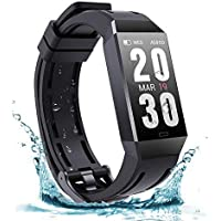 FRSWAY Fitness Trackers, Activity Trackers,Bluetooth Smart Watch - Heart Rate Blood Pressure Sleep Monitor, Calorie…