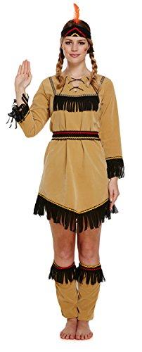 Nativo Americano Indio Disfraz Mujer Vaquero Mujer Adulto Disfraz Uk - Disfraz-india-americana