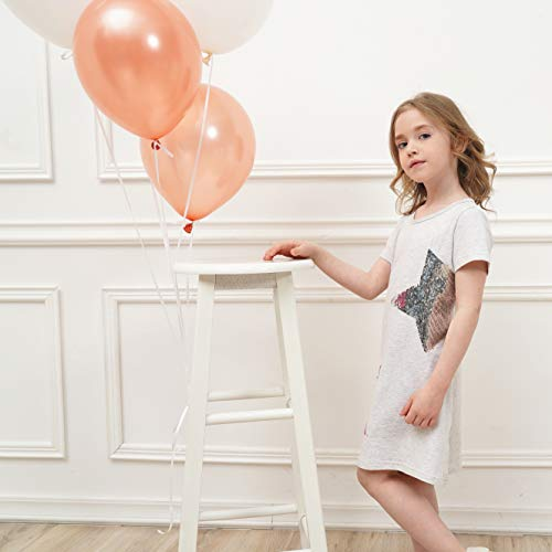 DXTON Toddler Girls Dresses Summer Casual Cotton Short Sleeve Outfit 2-8