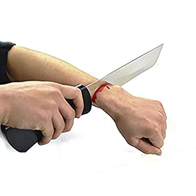 Enjoyer Knife Through Arm (Bloody Arm Knife) with Monster Blood-Stage Magic Tricks Props Illusions Gimmick Professional Magician Accessories: Toys & Games