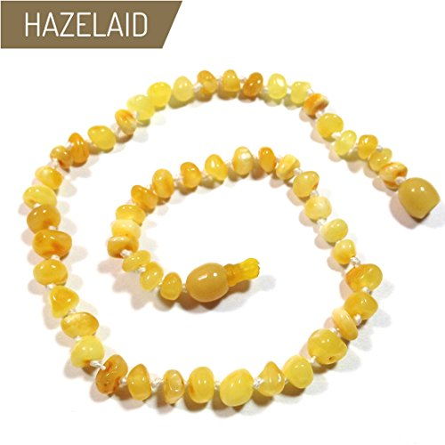 Hazelaid (TM) 11'' Pop-Clasp Baltic Amber Milk & Butter Necklace by Hazelaid