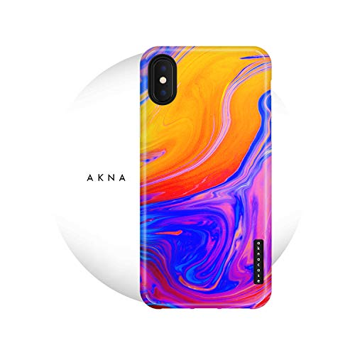 iPhone X & iPhone Xs Case Watercolor, Akna Charming Series High Impact Silicon Cover with Full HD+ Graphics for iPhone X & iPhone Xs (101631-U.S)
