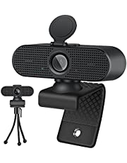 Foscomax Webcam, 1080P HD Webcam with Noise Reduction Microphone & Tripod & Privacy Cover, USB Webcam for Computer Laptop Desktop, Web Camera for Video Calling/Conferencing/Gaming/Streaming
