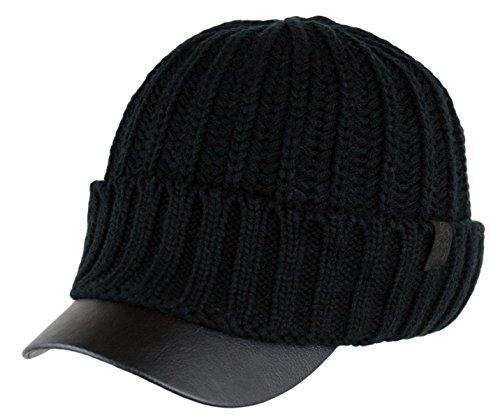 leather beanie cap - 3