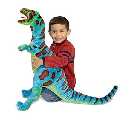 Amazon Com Melissa Doug T Rex Giant Stuffed Animal Wildlife