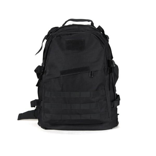 05067c0e6b SODIAL (R) 40L Outdoor militare tattico Zaino di campeggio d'escursione  Trekking Bag – Nero – TravelKit
