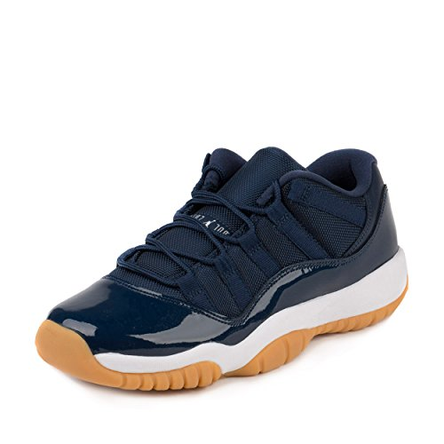085fa6a7644ccc NIKE AIR JORDAN 11 RETRO LOW XI GS MIDNIGHT NAVY BLUE GUM BROWN 528896 405  SZ 5 - Buy Online in UAE.