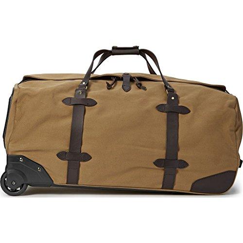 Filson Large Rolling Duffle Bag, Tan (Rugged Twill Bag Duffle Filson)