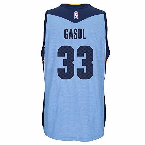 Marc Gasol Memphis Grizzlies NBA Adidas Blue Official Climacool Away Road Swingman Jersey For Men (2XL)